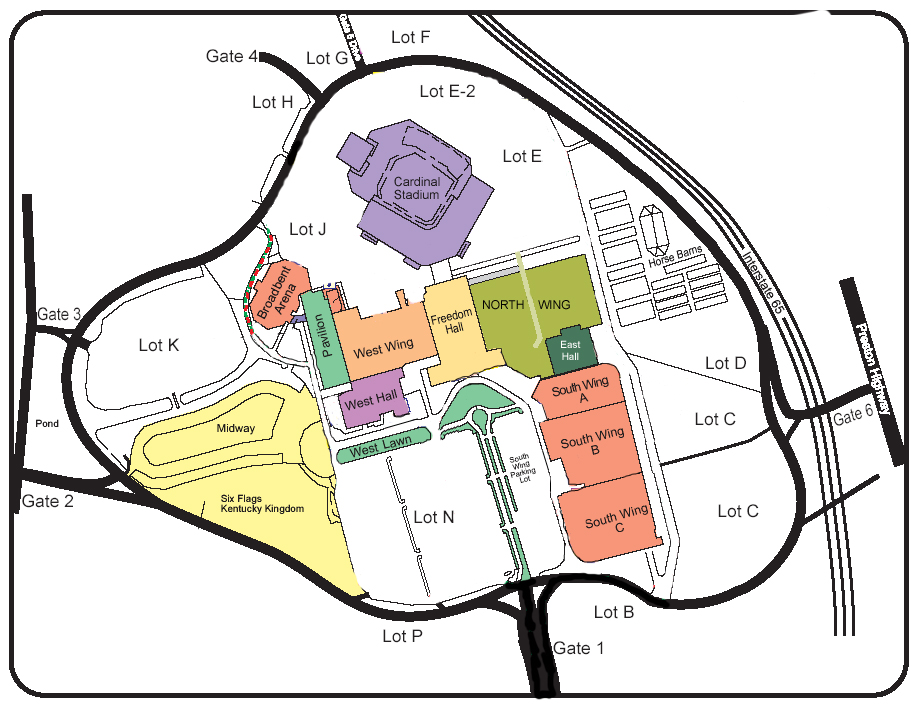 Map Kentucky Expo Center